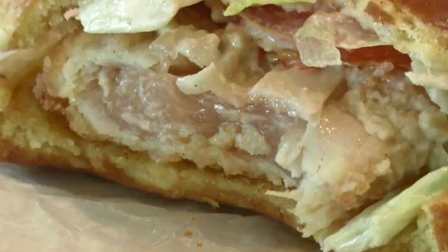 Burger King raw chicken sandwich