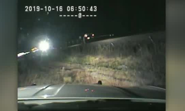 Trooper saves driver from train