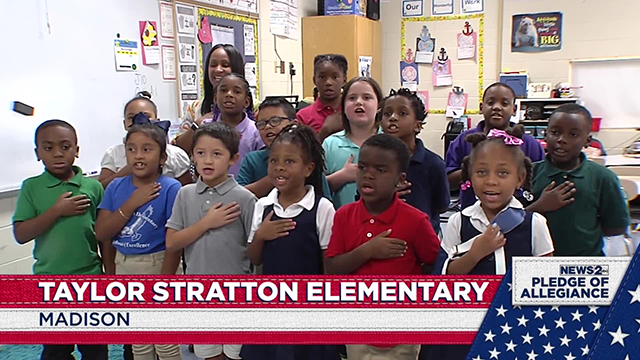 Daily Pledge: Taylor Stratton Elementary — Oct. 14, 2019