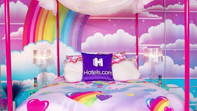 Lisa Frank hotel room