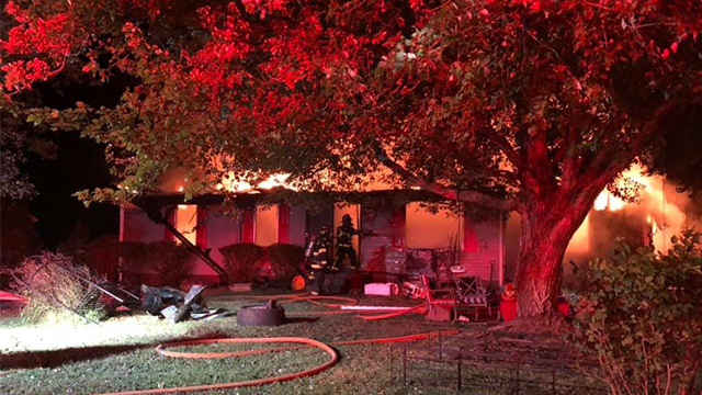 Huntwood Drive fire