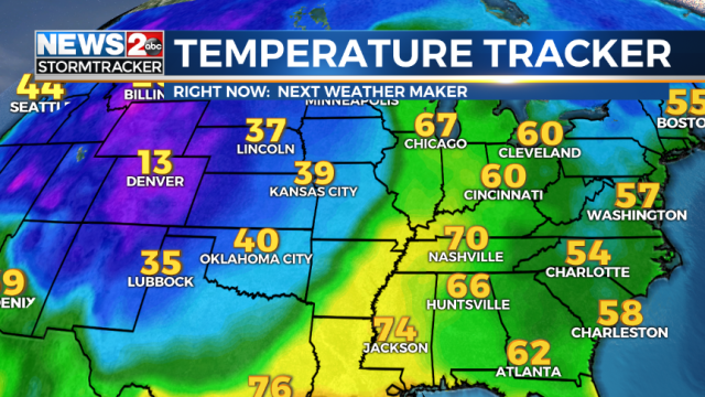 HUGE drop in temperatures for Middle Tennessee Friday night