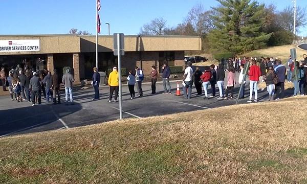 DMV wait lines