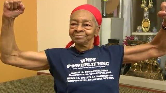 Image result for 82-years old weightlifter beat robber