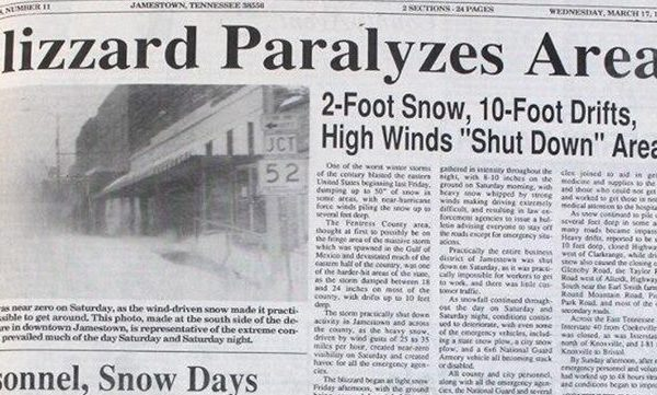 MARCH 1993 SUPERSTORM