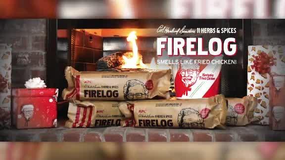 KFC chicken firelog