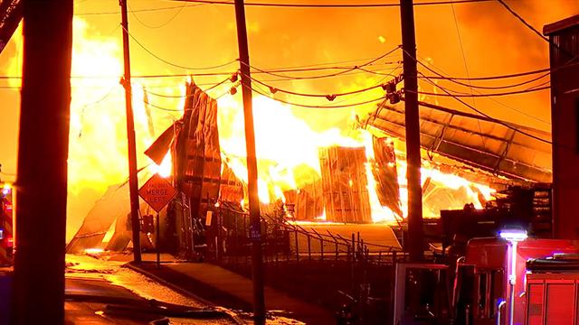 Chestnut Street lumber fire