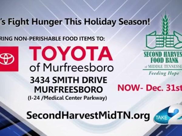 Toyota of Murfreesboro Second Harvest Food Drive