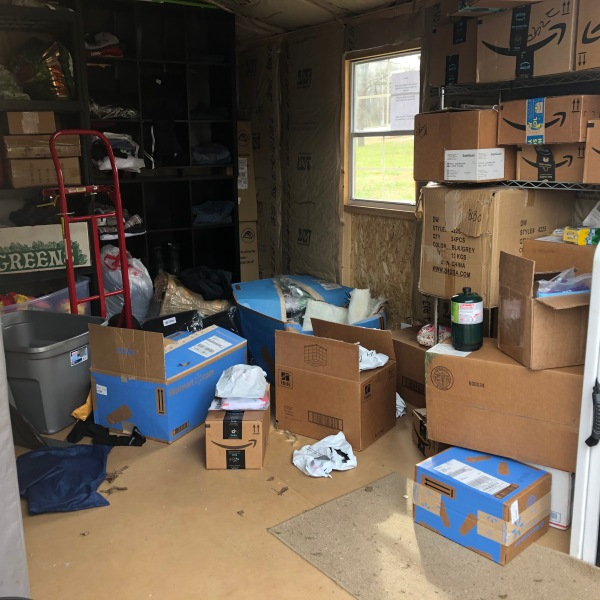 What remains of a burglarized storage unit