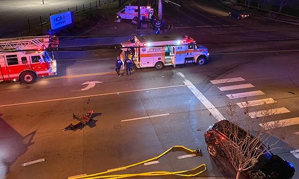 28th and Charlotte ambulance crash