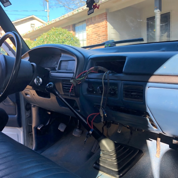 Davison's truck with stolen radio and sound system