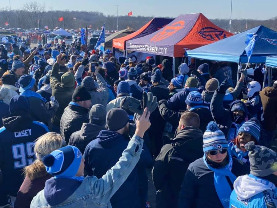 Titans tailgate in KC