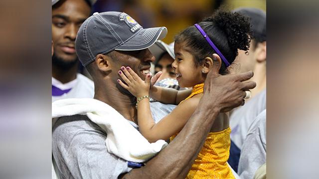 Kobe Bryant with Gianna