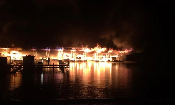 Scottsboro Alabama marina fire