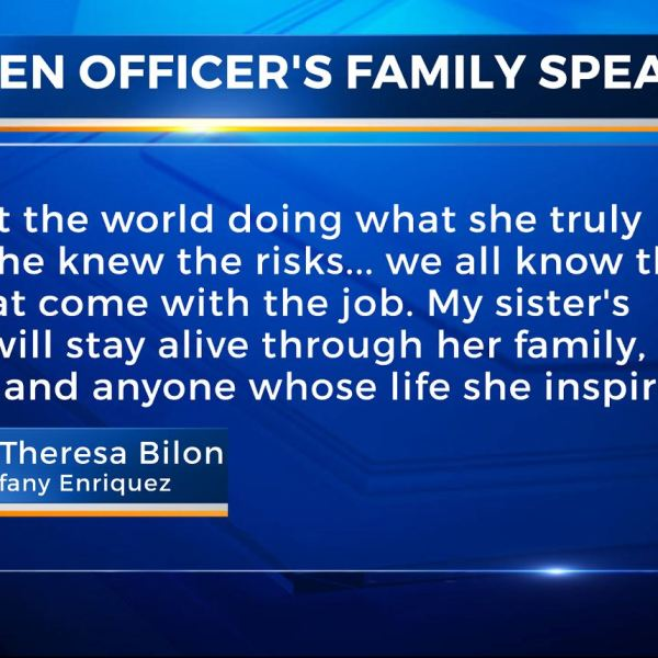 Statement by Officer Tiffany Enriquez' brother