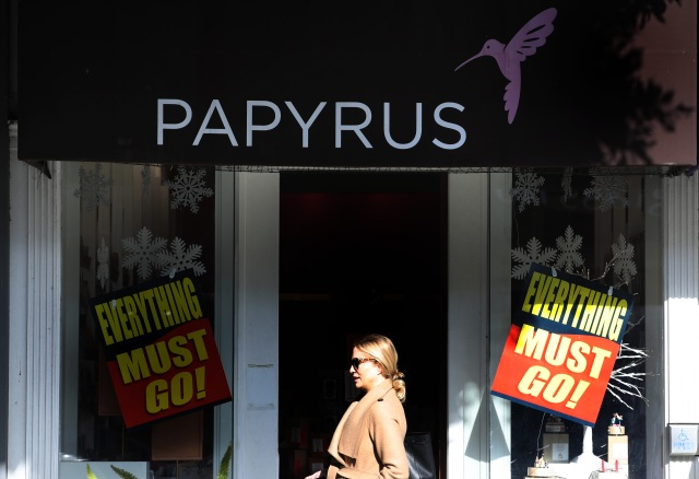 Stationary store Papyrus going out of business