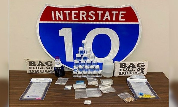 Package labeled 'Bag Full of Drugs' leads to Florida arrests