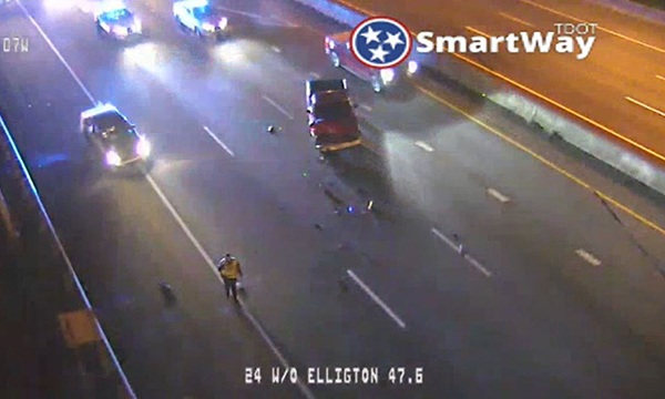 Metro officer involved crash I-24