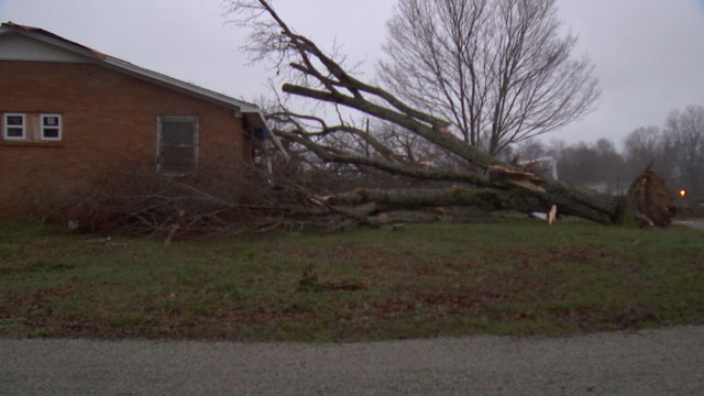 Lawrenceburg wind damage