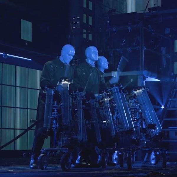 blue man group performing at tpac