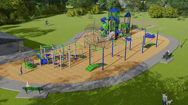 playground in La Vergne