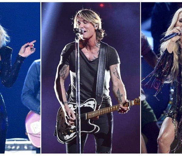 Miranda Lambert, Keith Urban and Carrie Underwood