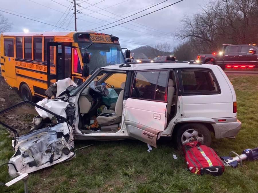 Arrington school bus crash