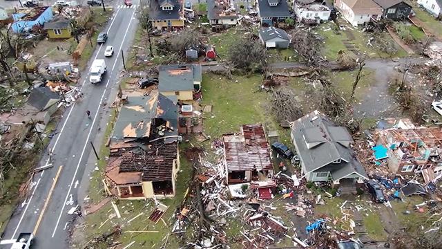 East Nashville tornado damage