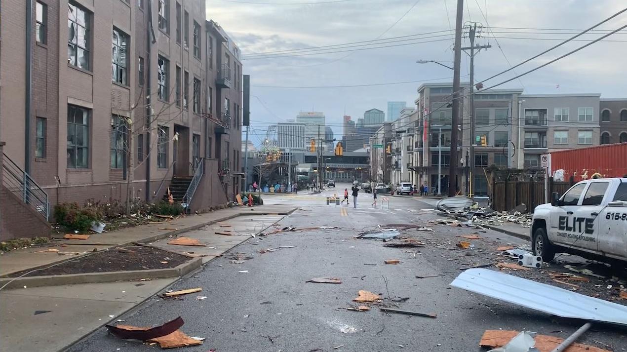 Germantown tornado damage