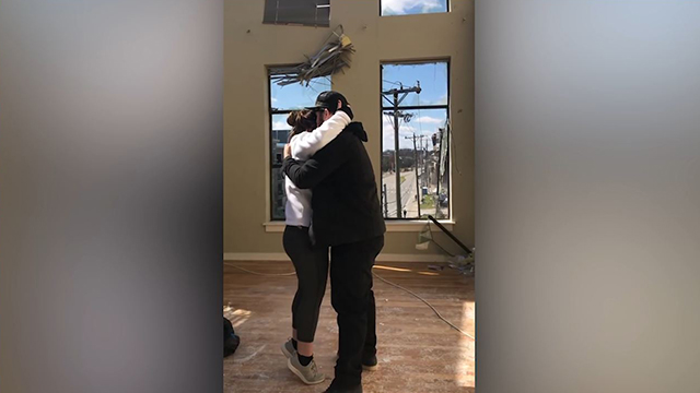 Couple gets engaged in Germantown apartment
