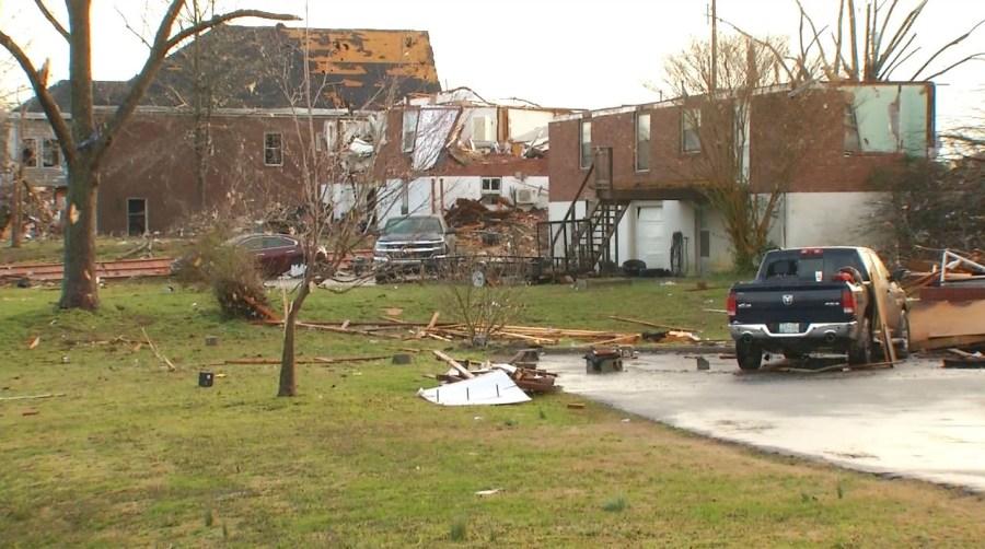 Donelson tornado damage