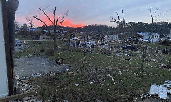 Hermitage Tornado Damage