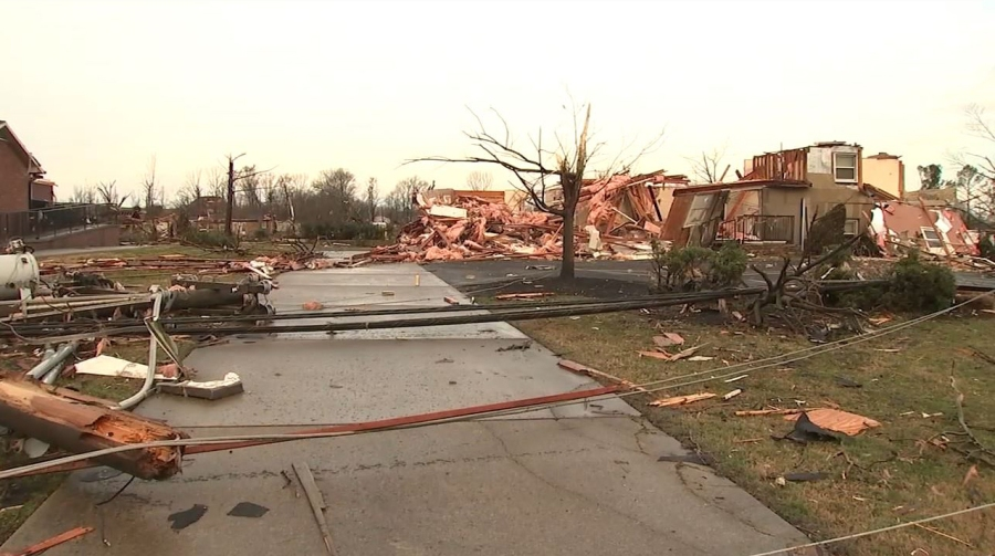 Mt. Juliet tornado damage