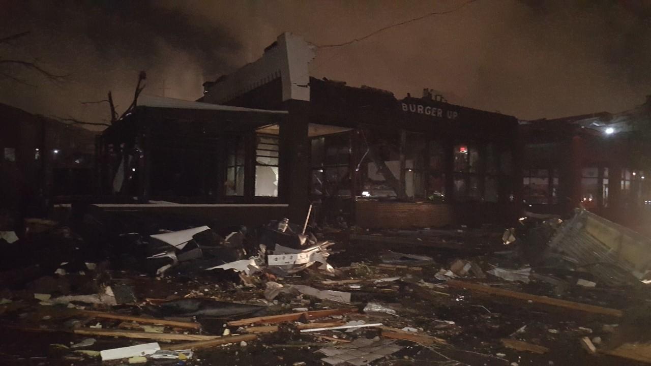 Burger Up damage