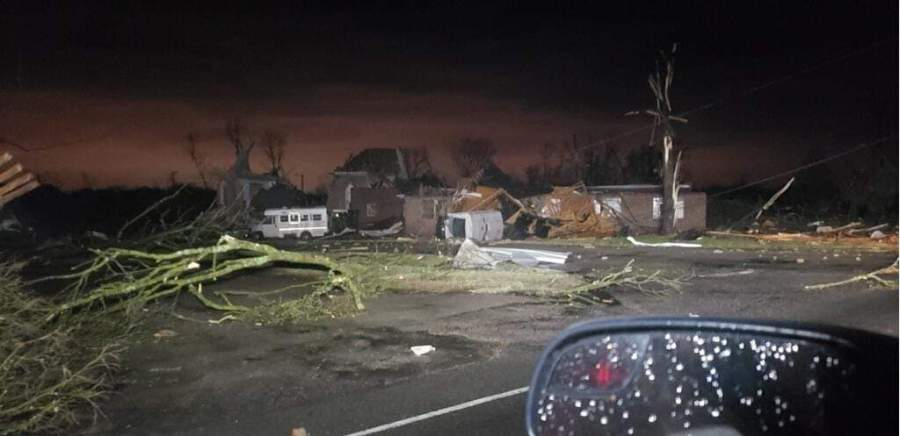 Dodson Chapel Church damage