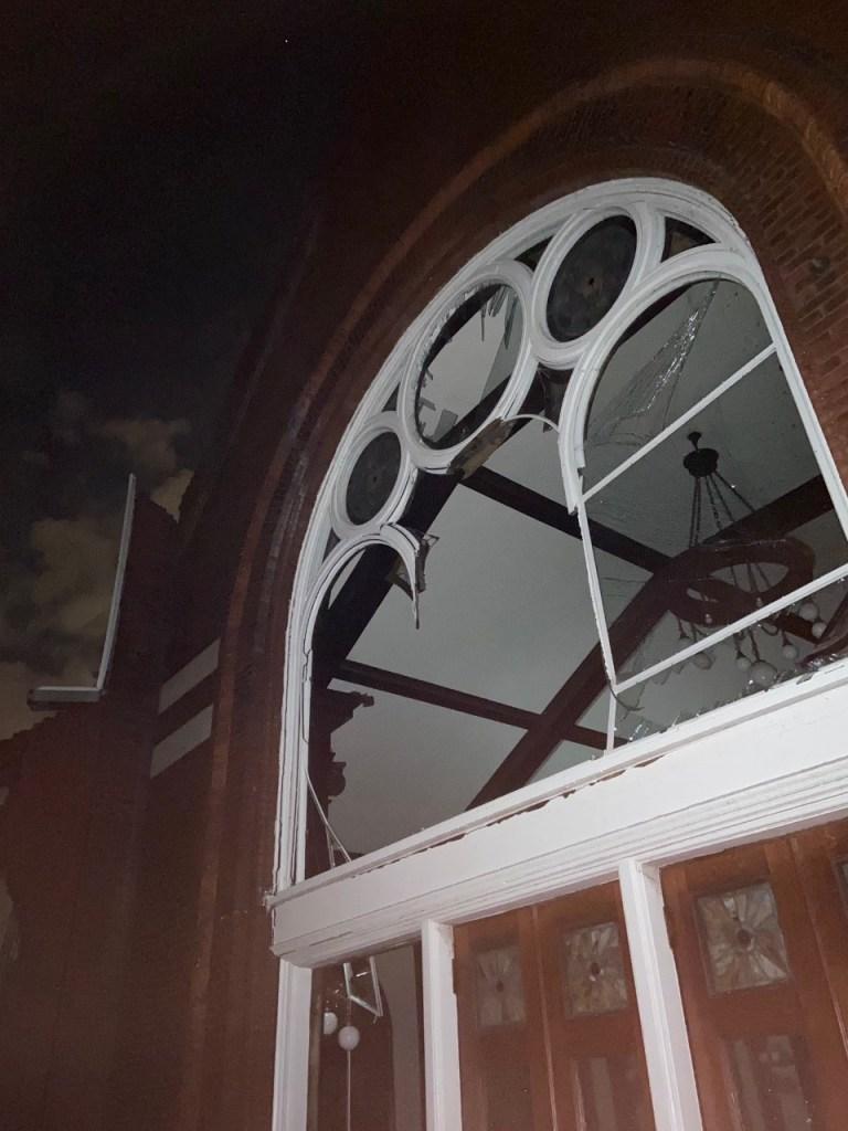 East End United Methodist Church damage