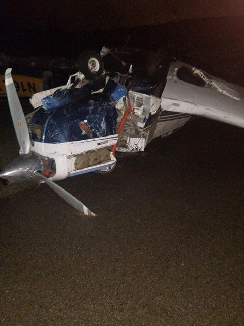 Damage at John C. Tune Airport