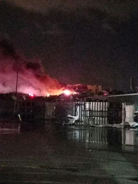 Damage at Sysco Nashville