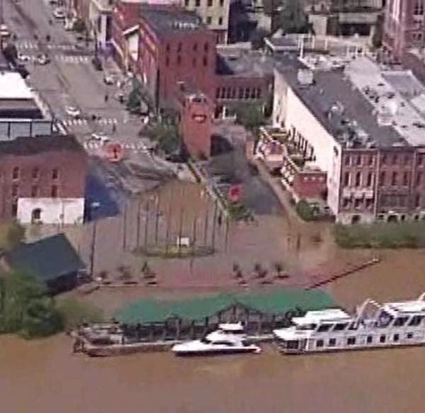 2010 Flood Broadway Aerial