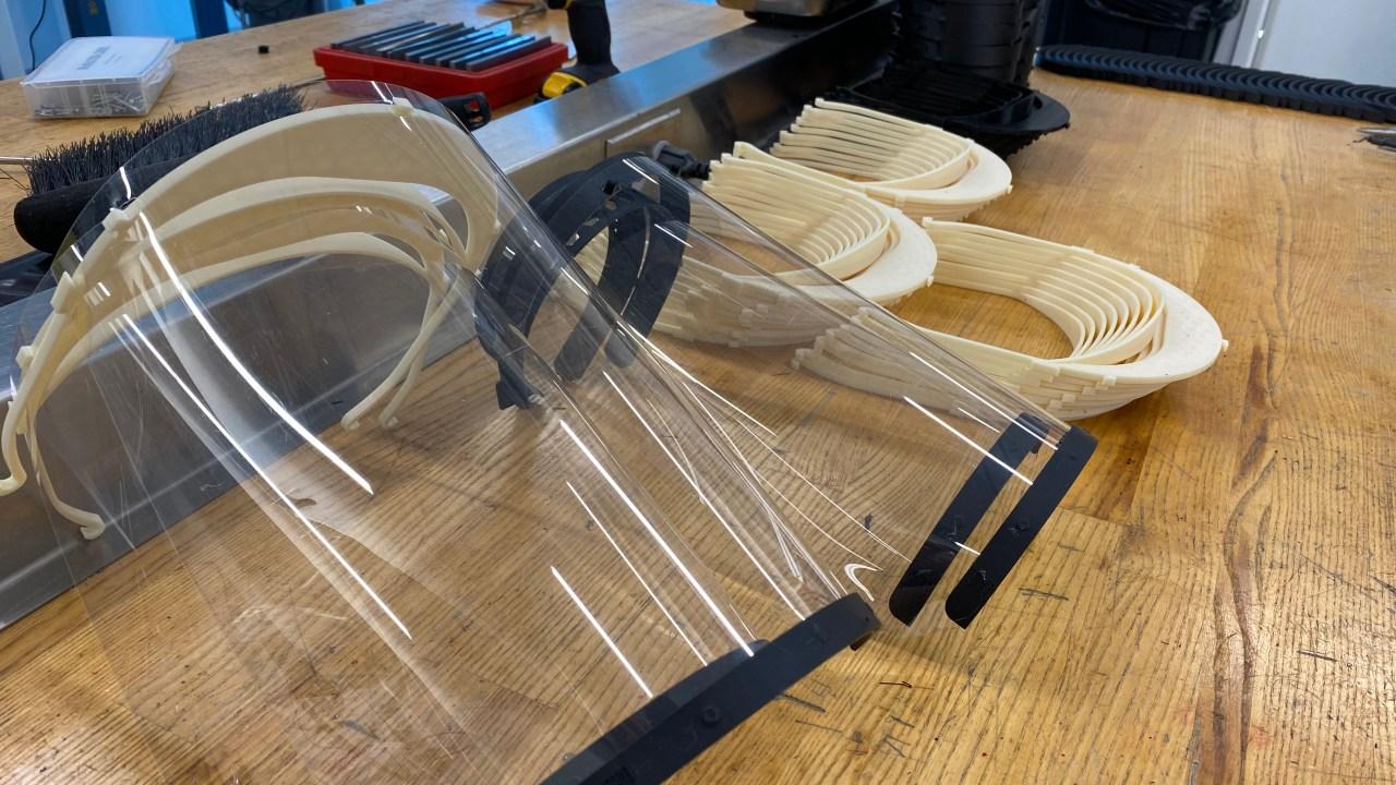 NASCAR R&D parks car work for medical shields