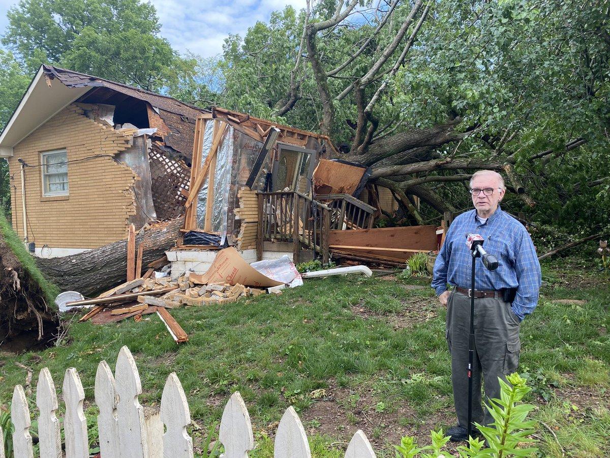 Bonnafair Drive damage
