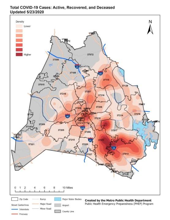 Cumulative heatmap total