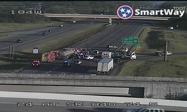 Fatal crash I-24 at 840