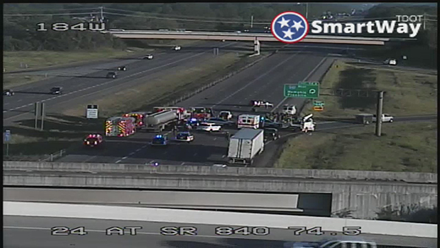 Fatal crash I-24 at 840