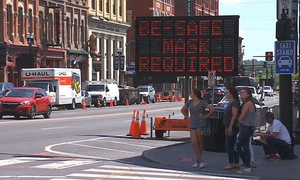 downtown Nashville Broadway mask