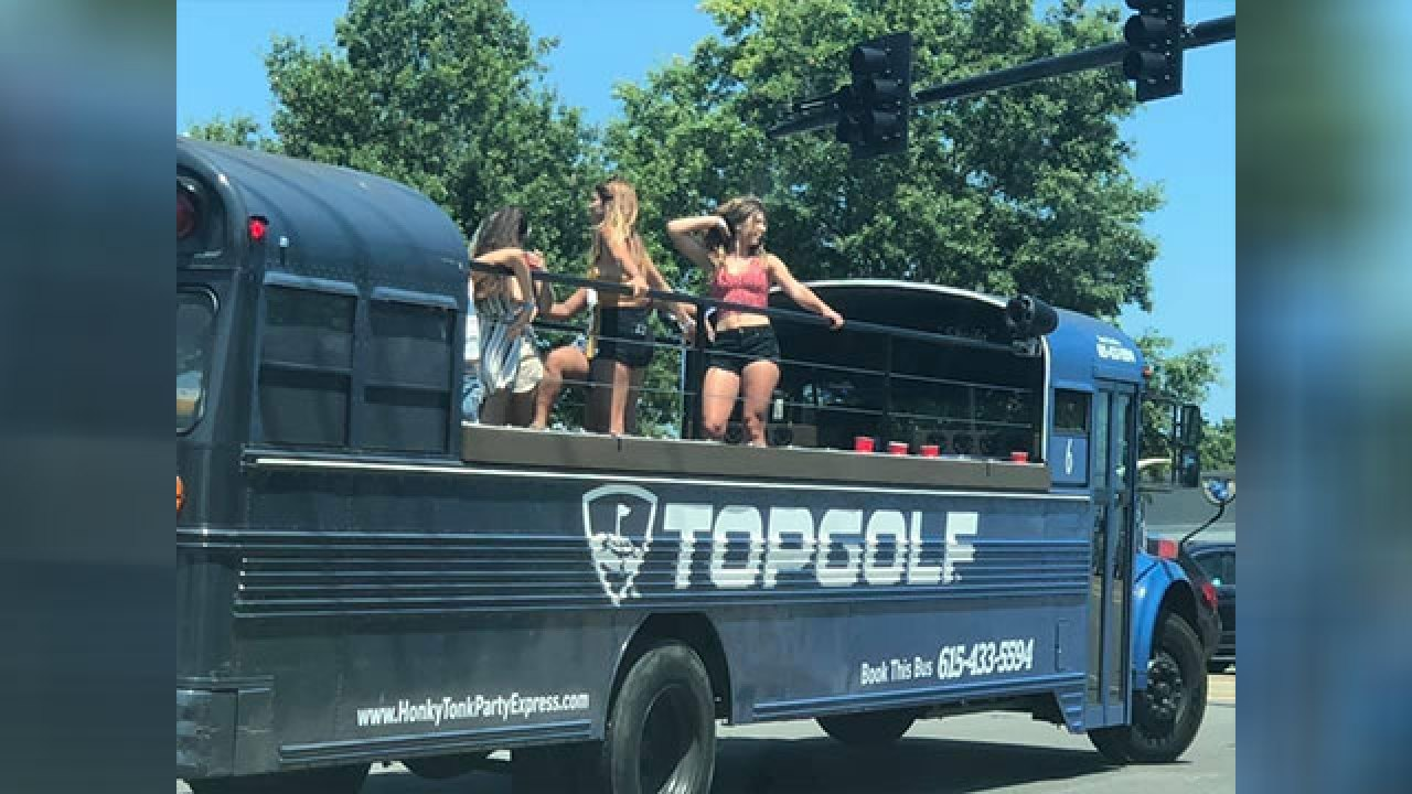 Party buses from Nashville spotted in Williamson County