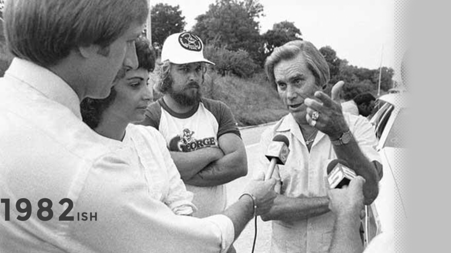 1982: Covering George Jones dispute about weaving in traffic on I-65
