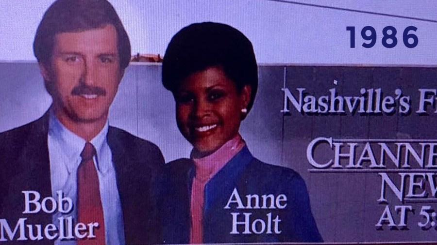1986: Nashville billboard with Bob & Anne
