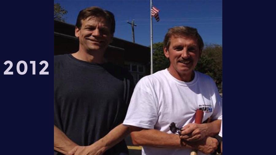 2012: Hands on Nashville Day. Bob and Chris Bundgaard cleaning at Buena Vista School