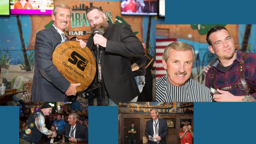 Awarded the first Lifetime Moustache Achievement award by Southern Gentleman's BMC